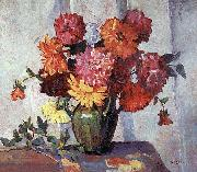 Frances Hudson Storrs Dahlias oil painting reproduction