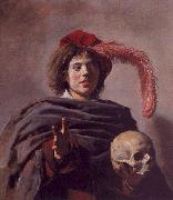 Frans Hals Portrait of a Young Man with a Skull oil painting