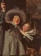 Frans Hals Young Man and Woman in an Inn oil painting