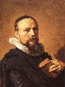 Frans Hals Portrait of Samuel Ampzing oil painting