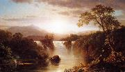 Frederic Edwin Church Landscape with Waterfall oil painting reproduction