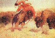 Frederick Remington The Buffalo Runner oil painting reproduction