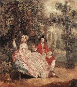 GAINSBOROUGH, Thomas Conversation in a Park sd oil painting