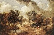 GAINSBOROUGH, Thomas Landscape in Suffolk sdg oil painting