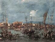 GUARDI, Francesco The Molo and the Riva degli Schiavoni from the Bacino di San Marco dfg oil painting