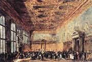 GUARDI, Francesco Audience Granted by the Doge dfh oil painting