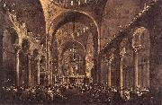 GUARDI, Francesco Doge Alvise IV Mocenigo Appears to the People in St Mark s Basilica in 1763 oil painting