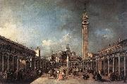 GUARDI, Francesco Piazza di San Marco dfh oil painting