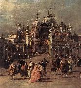 GUARDI, Francesco Piazza di San Marco (detail) dh oil painting