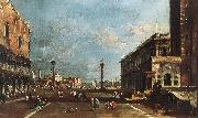 GUARDI, Francesco View of Piazzetta San Marco towards the San Giorgio Maggiore sdg oil painting