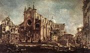 GUARDI, Francesco Campo Santi Giovanni e Paolo fh oil painting