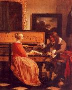 Gabriel Metsu The Music Lesson oil painting