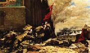 Georges Clairin The Burning of the Tuileries oil painting