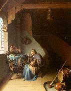 Gerrit Dou Woman Eating Porridge oil painting