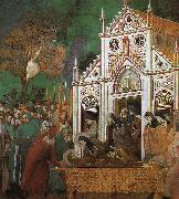 Giotto St.Francis Mourned by St.Clare oil painting