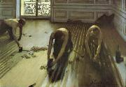 Gustave Caillebotte The Floor Strippers oil painting