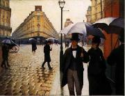 Gustave Caillebotte Paris Street, Rainy Weather oil painting