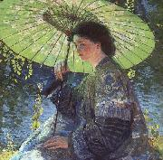 Guy Rose The Green Parasol oil painting reproduction