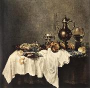 HEDA, Willem Claesz. Breakfast of Crab  sdg oil painting