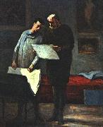 Honore  Daumier Advice to a Young Artist oil painting
