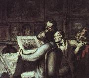 Honore  Daumier The Print Collectors oil painting