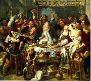 JORDAENS, Jacob The King Drinks sf oil painting reproduction