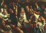 Jacob Jordaens The King Drinks oil painting