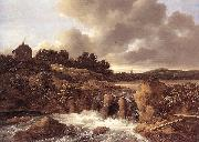 Jacob van Ruisdael Landscape with Waterfall oil painting reproduction