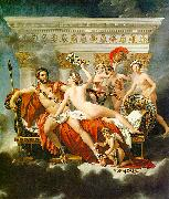 Jacques-Louis  David Mars Disarmed by Venus and the Three Graces oil painting