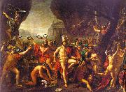 Jacques-Louis  David Leonidas at Thermopylae oil painting