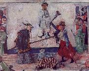 James Ensor Skeletons Fighting for the Body of a Hanged Man oil painting