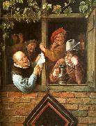 Jan Steen Rhetoricians at a Window oil painting
