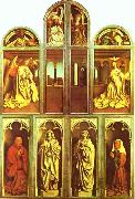 Jan Van Eyck The Ghent Altarpiece with altar wings closed oil painting reproduction