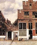 Jan Vermeer The Little Street oil painting reproduction