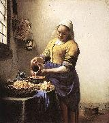 Jan Vermeer The Milkmaid oil painting reproduction