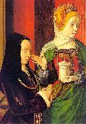 Jean Hey Madeline of Burgundy oil painting