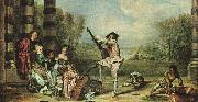 Jean-Antoine Watteau The Music Party oil painting reproduction