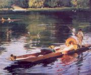 John Lavery The Thames at Maidenhead oil painting