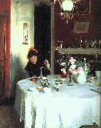 John Singer Sargent The Breakfast Table oil painting reproduction