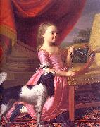 John Singleton Copley Young Lady with a Bird and a Dog oil painting reproduction