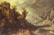Kerstiaen de Keuninck Landscape with Tobias and the Angel oil painting reproduction