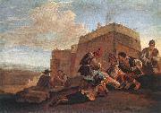LAER, Pieter van Landscape with Morra Players sg oil painting reproduction