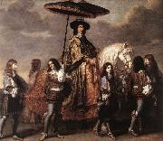 LE BRUN, Charles Chancellor Sguier at the Entry of Louis XIV into Paris in 1660 sg oil painting