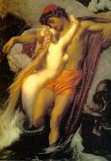 Lord Frederic Leighton The Fisherman and the Siren oil painting