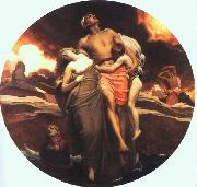 Lord Frederic Leighton And the Sea Gave Up the Dead Which Were in It oil painting