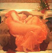 Lord Frederic Leighton Flaming June oil painting