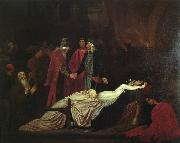 Lord Frederic Leighton The Reconciliation of the Montagues and Capulets over the Dead Bodies of Romeo and Juliet oil painting