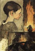 Louis Anquetin Child's Profile and Study for a Still Life oil painting