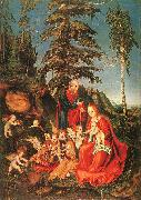 Lucas  Cranach The Rest on the Flight to Egypt oil painting