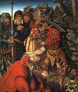 Lucas  Cranach The Martyrdom of St.Barbara oil painting